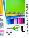 new school supplies prepared... | Shutterstock . vector #211254481