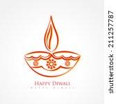vector artistic diwali diya... | Shutterstock .eps vector #211257787