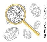 fingerprint viewed under a... | Shutterstock .eps vector #211259221