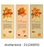 vintage autumn banners | Shutterstock .eps vector #211260031