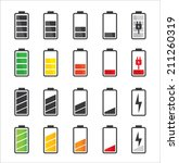 Battery Icon Set .set Of...