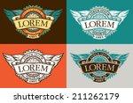 vintage engraved emblem with...   Shutterstock .eps vector #211262179