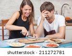 couple having fun while... | Shutterstock . vector #211272781