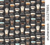 Coffee Type Background Pattern...