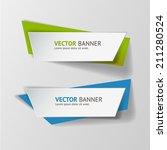 vector infographic banners set | Shutterstock .eps vector #211280524