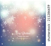 abstract christmas background... | Shutterstock .eps vector #211286659