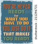 retro vintage motivational... | Shutterstock .eps vector #211296721