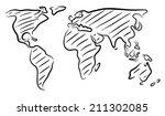 editable vector rough outline... | Shutterstock .eps vector #211302085