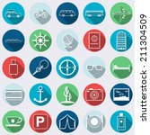 travel and tourism flat vector... | Shutterstock .eps vector #211304509