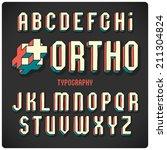 orthogonal projection font.... | Shutterstock .eps vector #211304824