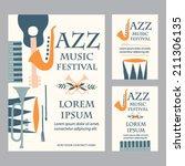 jazz music festival poster... | Shutterstock .eps vector #211306135