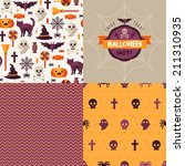 seamless patterns of halloween... | Shutterstock .eps vector #211310935