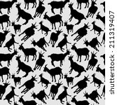goats silhouettes seamless | Shutterstock .eps vector #211319407