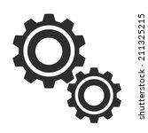 vector gears black icon