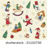 retro pattern with christmas... | Shutterstock .eps vector #21132730