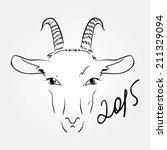 vector image of an goat  serow  ...   Shutterstock .eps vector #211329094
