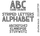 hand draw doodle abc  alphabet... | Shutterstock .eps vector #211339759