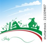 italian holidays background... | Shutterstock .eps vector #211339807