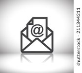 mail icon | Shutterstock .eps vector #211344211