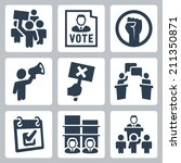 politics related vector icons... | Shutterstock .eps vector #211350871