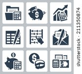 budget  accounting vector icons ...