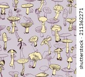 seamless pattern with mushrooms ... | Shutterstock .eps vector #211362271