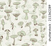 seamless pattern with mushrooms ... | Shutterstock .eps vector #211362289