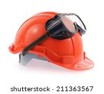 helmet and safety glasses... | Shutterstock . vector #211363567
