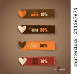 price tag  ribbon  sale coupon  ... | Shutterstock .eps vector #211367671