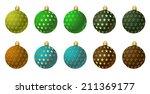 christmas ornaments. vector... | Shutterstock .eps vector #211369177