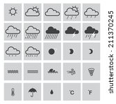 weather icons | Shutterstock .eps vector #211370245