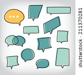 speech bubbles  | Shutterstock .eps vector #211370281