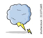 cartoon thundercloud symbol | Shutterstock . vector #211371685