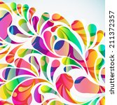abstract colorful arc drop... | Shutterstock . vector #211372357