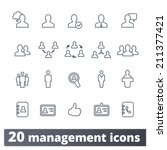management icons  communication ... | Shutterstock .eps vector #211377421