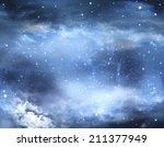 Abstract Winter Sky  Background