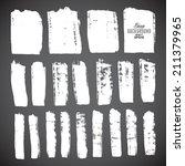 brush strokes   set   isolated... | Shutterstock .eps vector #211379965