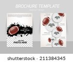 rugby american football back... | Shutterstock .eps vector #211384345
