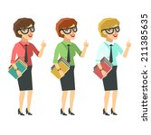 successful business woman ... | Shutterstock .eps vector #211385635
