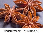 close up of star anise food... | Shutterstock . vector #211386577