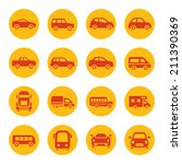 cars icon set | Shutterstock .eps vector #211390369