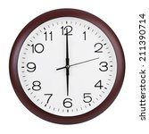 six hours on the large round...   Shutterstock . vector #211390714