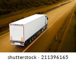 white truck on the highway.... | Shutterstock . vector #211396165