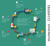 flat infographic design of... | Shutterstock .eps vector #211400581