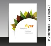 flyer or cover design   autumn... | Shutterstock .eps vector #211400674