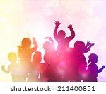 happy dancing children | Shutterstock .eps vector #211400851