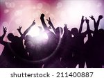 dancing people silhouettes | Shutterstock .eps vector #211400887