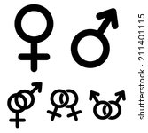 male and female symbols | Shutterstock .eps vector #211401115