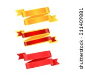 ribbon on white background....   Shutterstock .eps vector #211409881