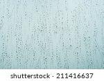 raindrops in a window  blue... | Shutterstock . vector #211416637